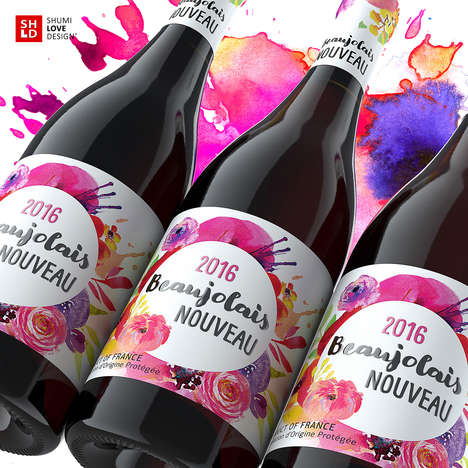 Watercolor Wine Branding