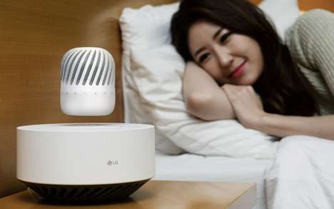 Levitating Wireless Speakers - The LG Levitating Wireless Speaker Hovers Above Its Base