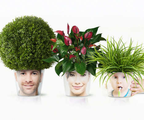 Personalized Face Flower Pots - The 'MyFacepot' Flower Plant Pots are Customized with Your Face
