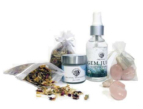 Gemstone Facial Kits - Gemstone Organics' Facial Spa Set Includes Gemstones for Natural Healing