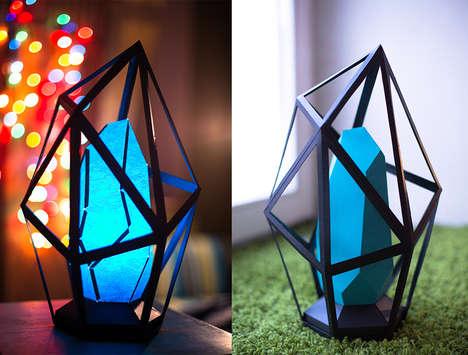 Diamond-Shaped Paper Lamps