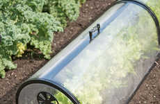 Weatherproof Garden Protectors - The Miniature Greenhouse Garden Row Tunnel Keeps Plants Secure
