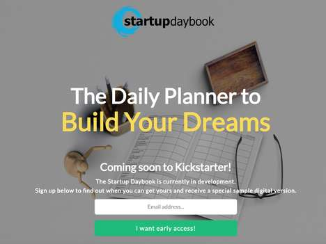 Entrepreneur Planning Workbooks - The 'Startup Daybook' Daily Planner Gets Users Focused on Strategy