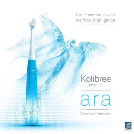 Embedded AI Toothbrushes - The Kolibree Ara Was Revealed During January's CES 2017 Events