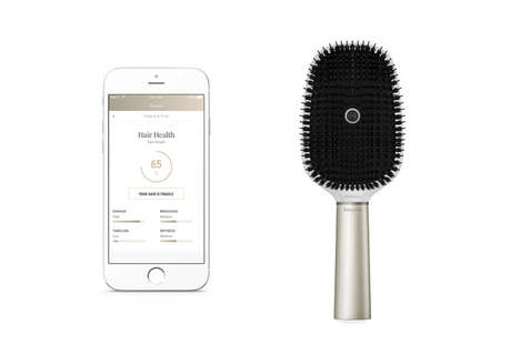 Sensor-Driven Smart Hairbrushes - The Kerastase Hair Coach was Revealed at CES 2017