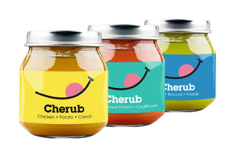 Cherubic Baby Food Jars - This Baby Food Reveals Endearing Minimalist Graphics