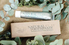 Organic Clay Toothpastes - Deborah Organics' Natural Clay Toothpaste Uses Chemical-Free Ingredients