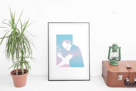 Minimalist Pastel TV Posters