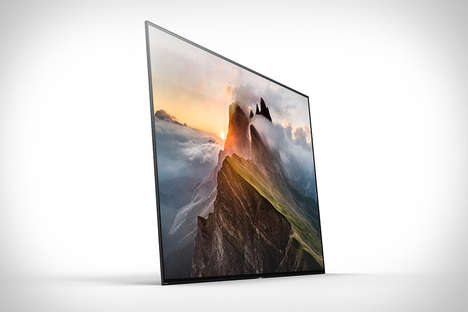 Razor-Thin OLED TVs - The Sony XBR-A1E Bravia OLED TV was Shown Off at CES 2017