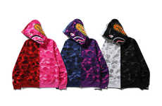 Split-Panel Camouflage Hoodies - These BAPE Hoodies Feature the Brand's Iconic Pattern and Branding