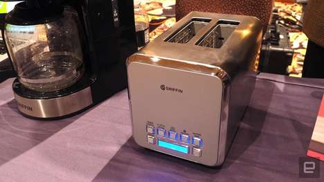 Smartphone-Connected Toasters - The Griffin Connected Toaster Showed Off Smart Features at CES 2017