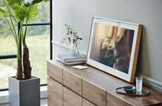 Framed Artwork TVs - The Samsung Lifestyle TV was Revealed as a Dual-Purpose Device at CES 2017