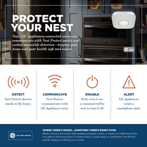 Interconnected Safety Appliances - GE Appliances and Nest Protect Now Work Together to Deter Fires