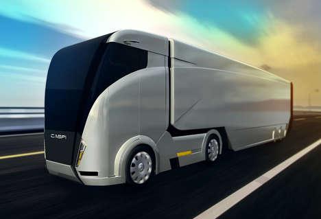 Aerodynamic Shipping Trucks