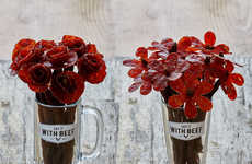 Beef Jerky Floral Arrangements - 'Say It With Beef' Provides Custom Flower Bouquets for Men