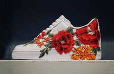 Elegantly Embroidered Sneakers - These Exclusive Floral Gucci Sneakers Were Designed by FRE Customs