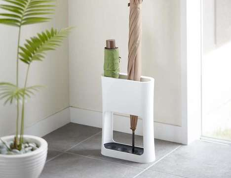 Inconspicuous Umbrella Holders - The Oval Umbrella Stand by Yamazaki is Stylishly Modern