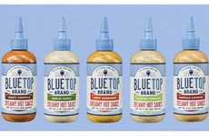 Creamy Spice Sauces - The Blue Top Creamy Hot Sauce Offers Heat and Flavor to Balance the Experience