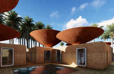 Inverted Roof Designs - This Cleverly Designed Domed Roof Keeps Homes Cool in Arid Climates
