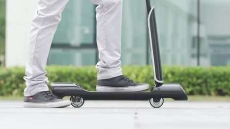 The GoTube is an Extremely Portable Electric Scooter for City Streets