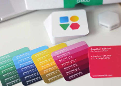 Makeshift Color-Matching Cards - The 'MOOTONE' Color-Matching System Features No Binding