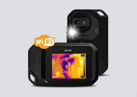 Heat-Mapping Cameras - The FLIR C3 Rugged Thermal Camera was Unveiled at CES 2017