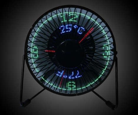 Digital Clock Fans