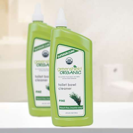 User-Friendly Bathroom Cleaners - GreenShield Organic's Toilet Bowl Cleaner is Chemical-Free