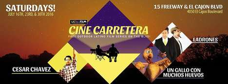 Hispanic Cinema Pop-Ups - Cine Carretera Popped Up in a Vacant Lot in San Diego to Screen Films
