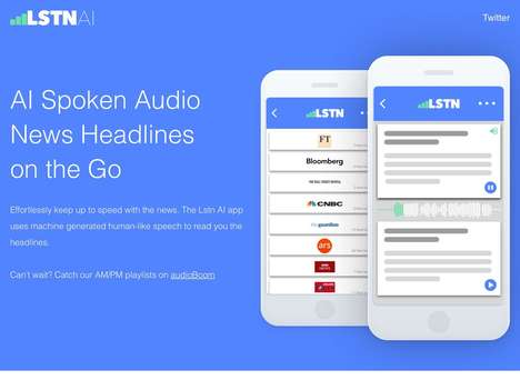 AI Audio News Apps - British Startup Lstn AI Uses Text to Speech Technology to Keep You Informed