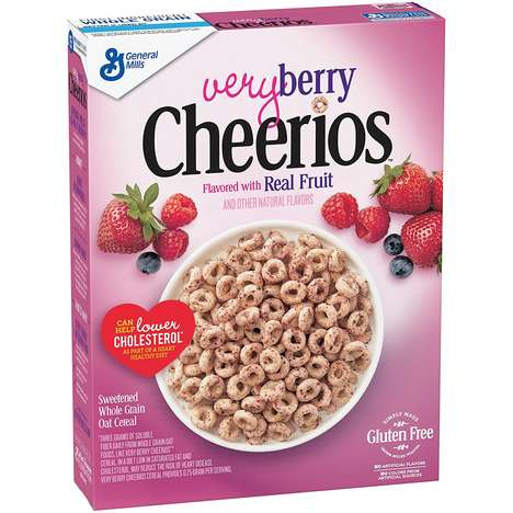 Fruit-Flavored Classic Cereals - Very Berry Cheerios are a New Flavor of the Breakfast Staple