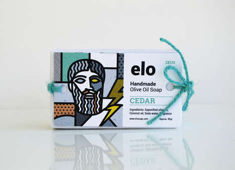 Mythological Soap Branding - These Natural Handmade Soaps Were Inspired by Greek Gods