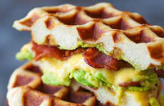 Super Sized Waffle Sandwiches - The Enormous Waffle Grilled Cheese Calls for Only Four Ingredients