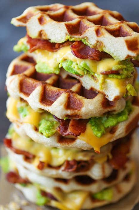 Super Sized Waffle Sandwiches