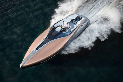 Luxury Car Brand Yachts - The Lexus Sport Yacht Produces Immense Speed in a Sleek Design