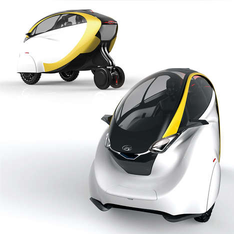 Mini Modern Metropolis Taxis - The i100 Auto Rickshaw Offers Safety and Stability on the Street