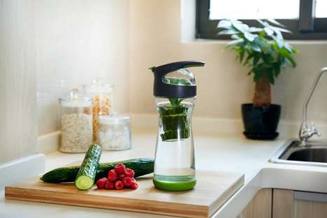 Vegetable-Slicing Water Bottles