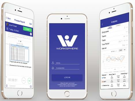 Workforce Productivity Apps - The 'WorkSphere' Mobile Management Solution Keeps Employees on Task