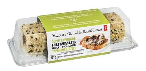 Rolled Hummus Dips