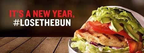 Bun-Free Chicken Sandwiches