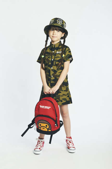 Unisex Children's Streetwear - The Spring/Summer BAPE Kids Collection Boasts Bold Branding and Color