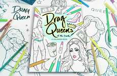 Drag Queen Coloring Books - 'Drag Queens of the South' is a Performance-Focused Coloring Book
