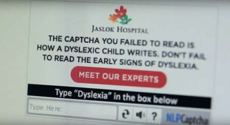 Dyslexic Captcha Campaigns - Jaslok Hospital's Dyslexia Awareness Campaign Used Internet Captchas