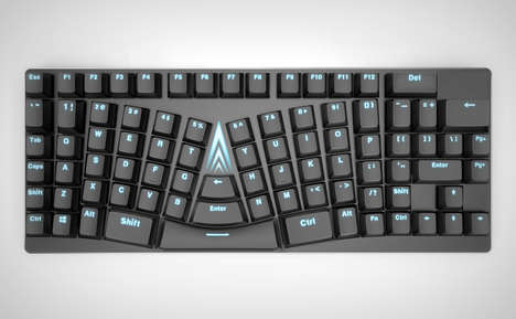 Ergonomic Contour Keyboard Designs