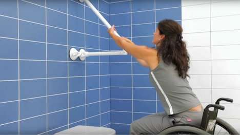 Suction Cup Support Bars - The Mobeli Support Bars Provide Support for Seniors and the Disabled