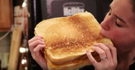 Giant Grilled Cheese Recipes - YouTube's HellthyJunkFood Created a Supersized Sandwich Recipe