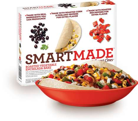 Microwaveable Mexican Dishes - The Smartmade SmartOnes Roasted Enchilada Vegetable Bake is Healthy