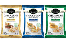 Flavorful Healthy Bean Chips - The Saffron Road ChickBean Snack Crisps are Protein and Fiber-Rich