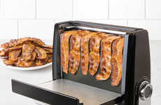 Fat-Reducing Bacon Appliances - The Bacon Express Bacon Grill Cooks Thin or Thick Cuts of Meat