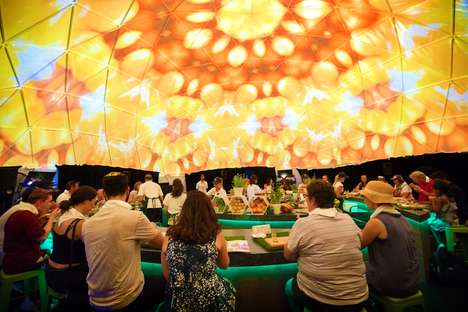 Multisensory Dining Experiences - The Woolworths Summer Sensorium Took Place at the Australian Open